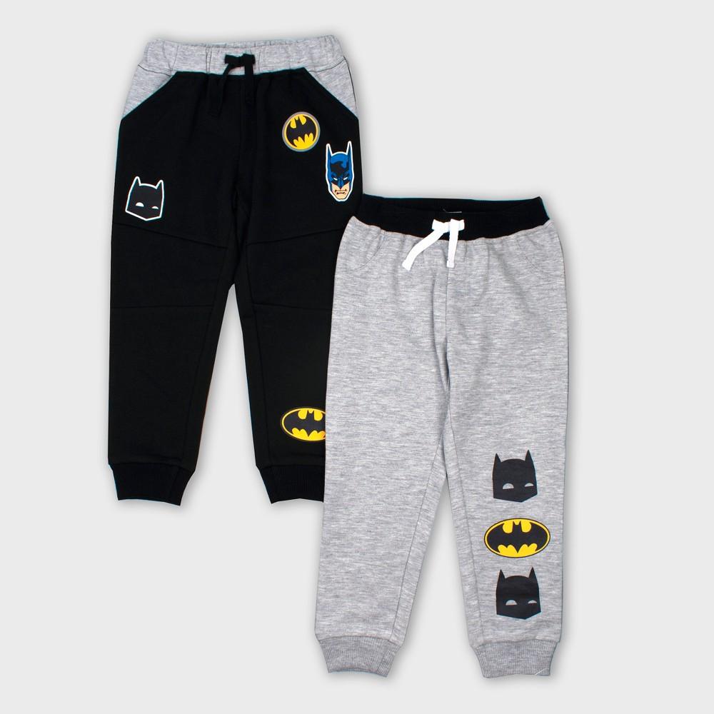 Toddler Boys' 2pk DC Comics Batman Jogger Pants - Gray 4T