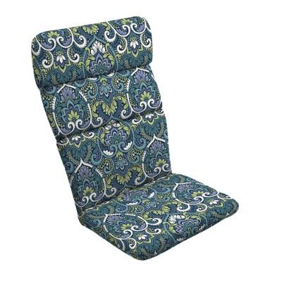 Sapphire Aurora Outdoor Adirondack Chair Cushion Blue - Arden Selections