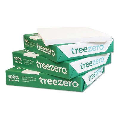 "TreeZero Multipurpose Paper 8.5"" x 11"" 20 lbs. White 1500 Sheets/Carton 310010"