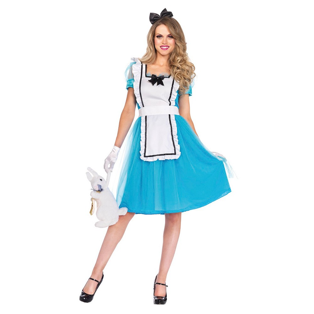 Image of Halloween Women's Alice 3 Piece Costume - Large, Blue