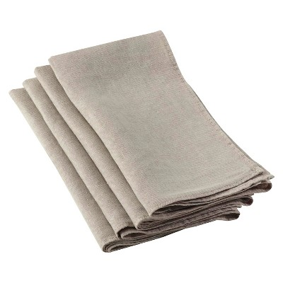 Ruffled Design Napkins Natural (Set of 4)