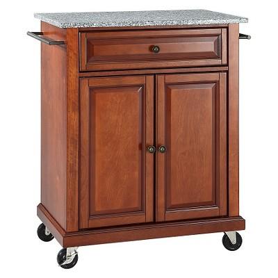 Solid Granite Top Portable Kitchen Cart/Island - Crosley