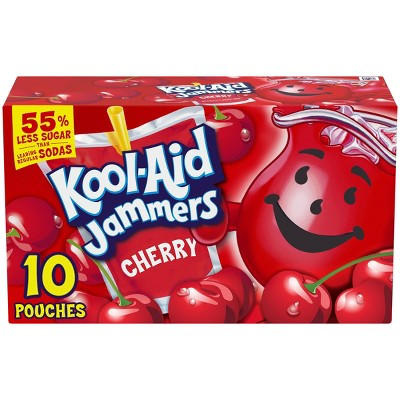 Kool-Aid Jammers Cherry Juice Drinks - 10pk/6 fl oz Pouches