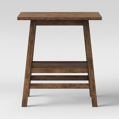 Haverhill Wood End Table Weathered Brown - Threshold™