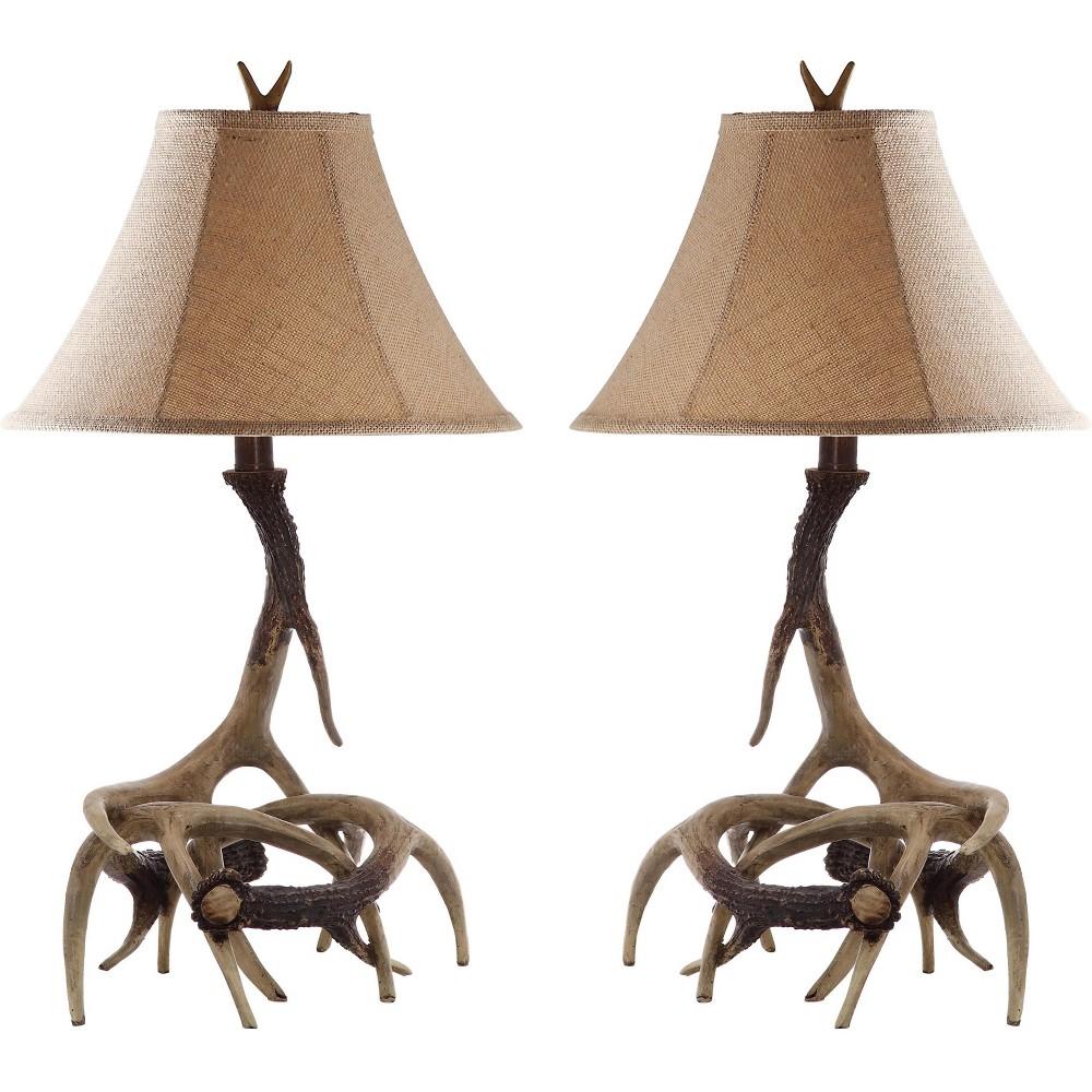 Peri Table Lamp (Set of 2) - Brown - Safavieh