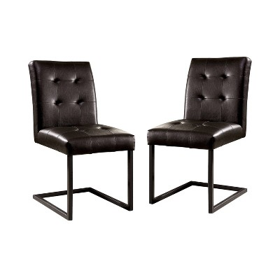 Set of 2 Telford Upholstered Side Chairs Black - HOMES: Inside + Out