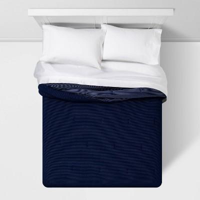 Full/Queen Dobby Jersey Comforter Navy - Room Essentials™