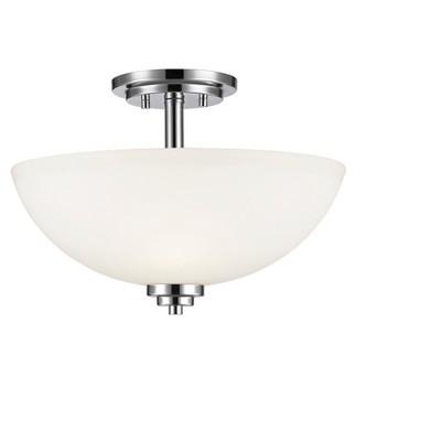 """11"""" Ceiling Light Semi-Flush Mount Chrome  - Z-Lite"""