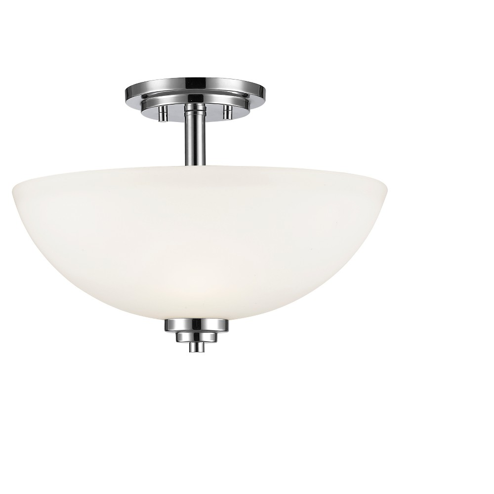 "Image of ""11"""" Ceiling Light Semi-Flush Mount Chrome - Z-Lite"""