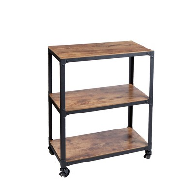 Mind Reader Rolling 3-Teir Bar Cart Coffee Station