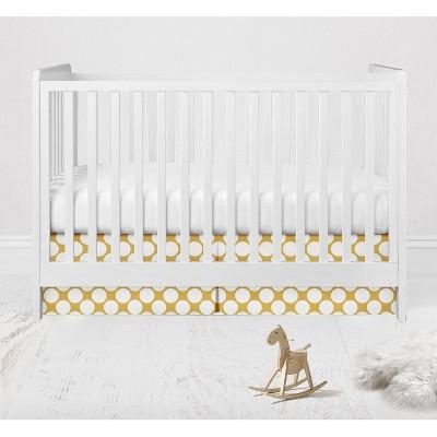 Bacati - Large Dots Crib/Toddler Bed Skirt - Yellow