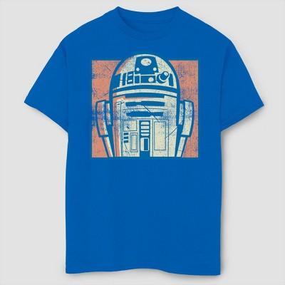 Boys' Star Wars Vintage  Bebobeep T-Shirt - Royal Blue