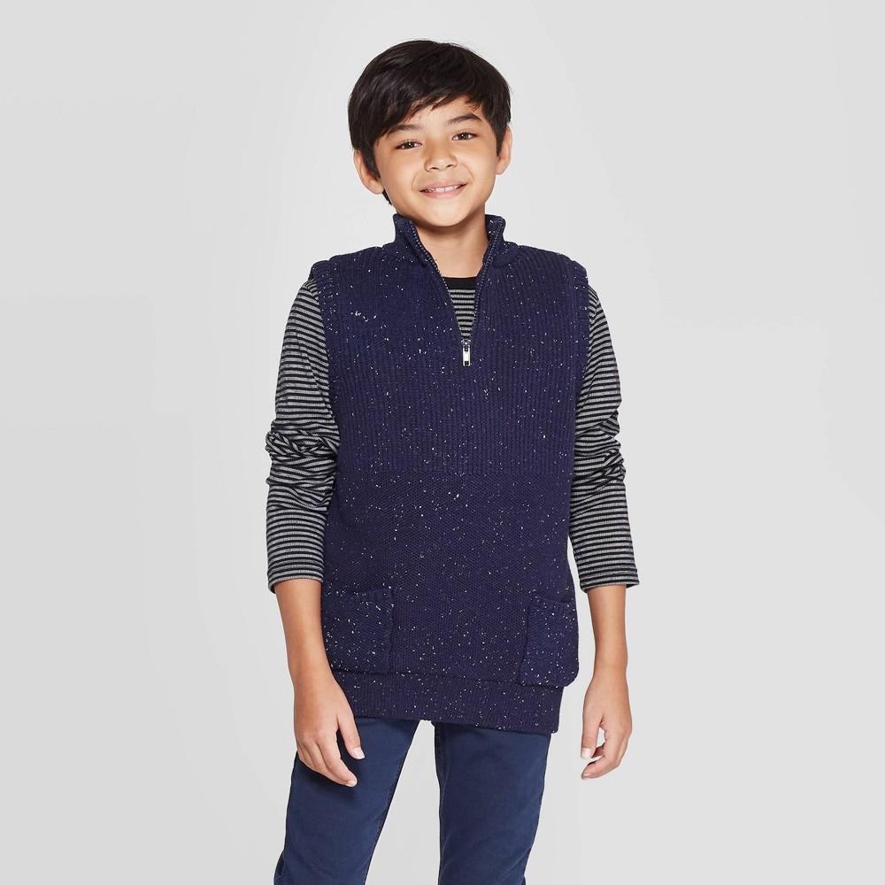 Image of Boys' Sweater Vest Pullover - Cat & Jack Navy L, Boy's, Size: Large, Blue