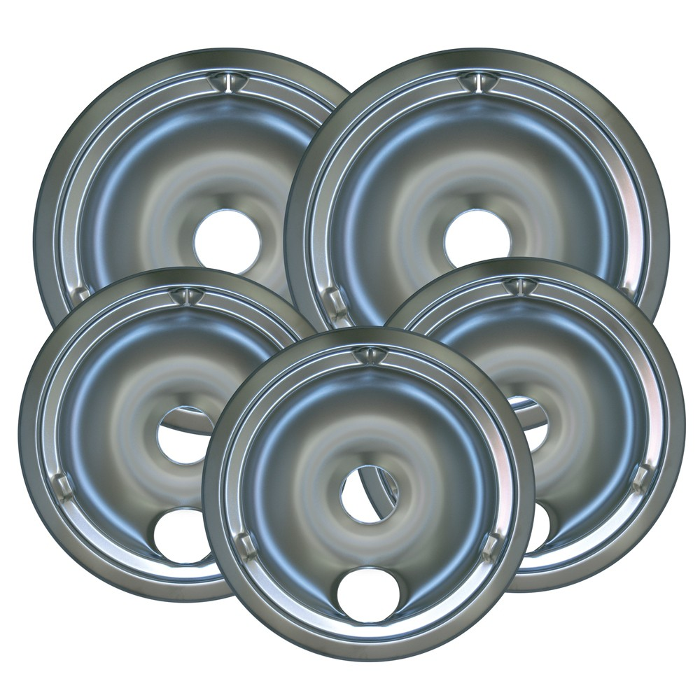 Range Kleen 5pc Drip Pans – Chrome 13741386