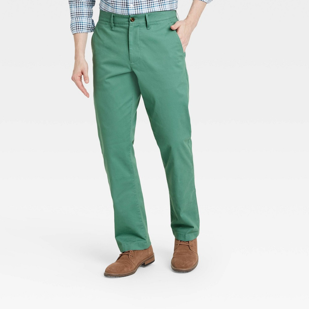 Men 39 S Straight Fit Chino Pants Goodfellow 38 Co 8482 Dusky Green 32x34