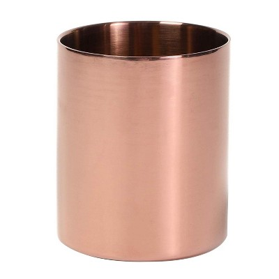 Metal Pencil Holder, Makeup Brush Stationery Organizer Pen Cup, Rose Gold
