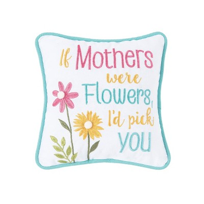 C&F Home 10'' x 10'' Mothers and Flowers Petite Pillow