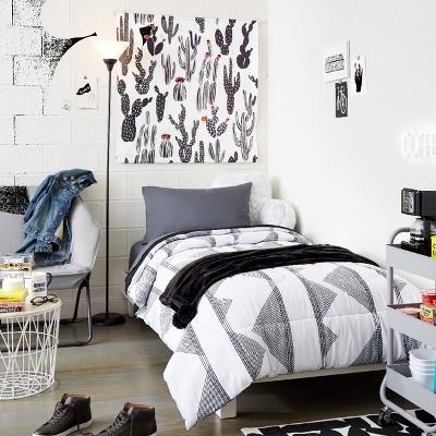 Alphabet City Black & White College Bedroom Collection