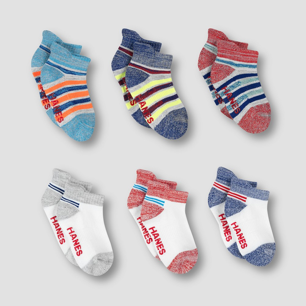 Image of Baby Boys' 6pk Heel Shield Socks - Hanes Colors May Vary 6-12M, Toddler Boy's, MultiColored