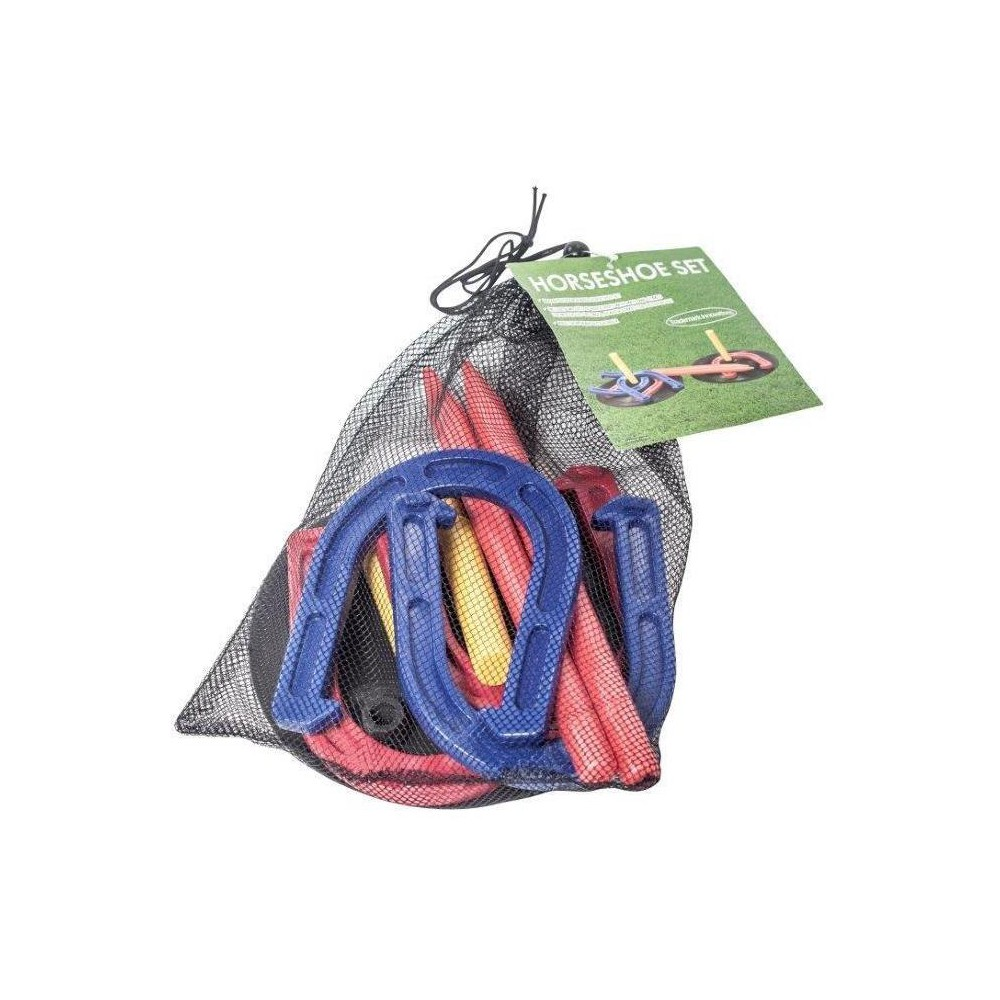 Trademark Innovations Complete Indoor/Outdoor Horseshoe Set, Multi-Colored