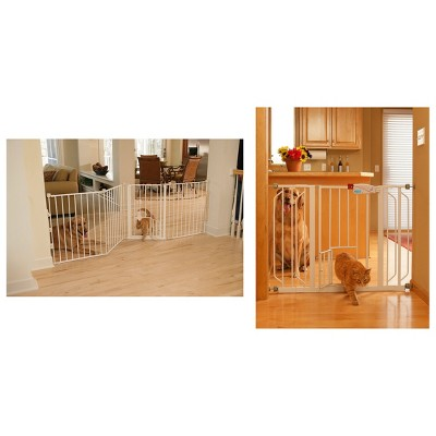 Carlson Extra Wide Pet Gate and Extensions