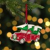 "Northlight 3.5"" Red and Silver Country Pick Up Truck with European Crystals Christmas Ornament - image 2 of 4"