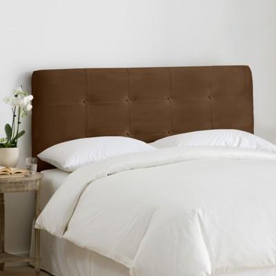 Dolce Microsuede Headboard - Premier Chocolate - Queen - Skyline Furniture , Premier Brown