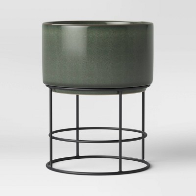 Large Ceramic Planter on Stand Green - Project 62™