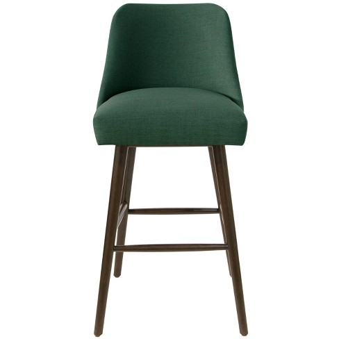 Rounded Back Bar Stool in Linen Conifer Green - Project 62™ - image 1 of 4