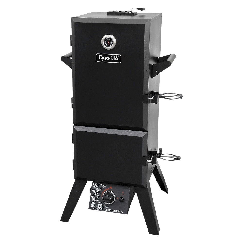 Dyna-Glo Vertical Double Door Propane Gas Smoker, Black 15150379
