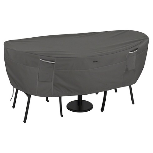 Ravenna Bistro Round Patio Table And 2 Chairs Cover - Dark Taupe - Classic Accessories - image 1 of 6
