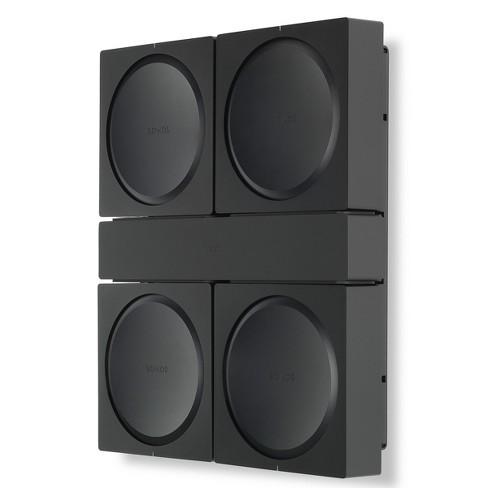 Flexson Wall Mount for 4 Sonos AMPs (Black) - image 1 of 6