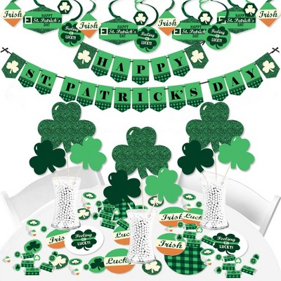 Big Dot of Happiness St. Patrick's Day - Saint Patty's Day Party Supplies - Banner Decoration Kit - Fundle Bundle