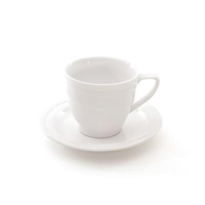 BergHOFF Eclipse 12oz Porcelain Breakfast Cup & Saucer