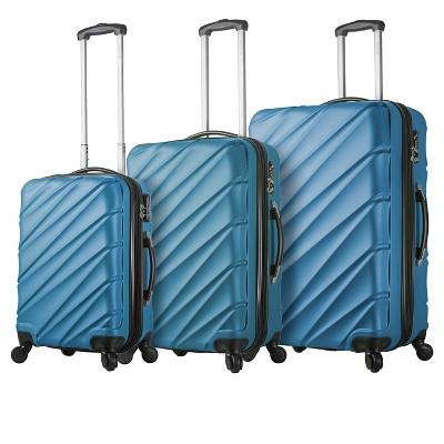 Mia Viaggi Lodi Hardside 3pc Luggage Set - Blue