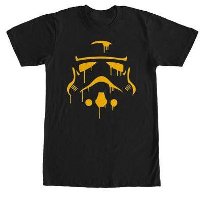 Men's Star Wars Halloween Dripping Stormtrooper Helmet T-Shirt