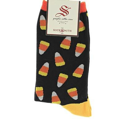 """Novelty Socks 14.0"""" Candy Corn Halloween Sock Treats Socksmith  -  Socks"""