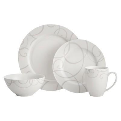 Oneida Symphony 16pc Dinnerware Set Gray