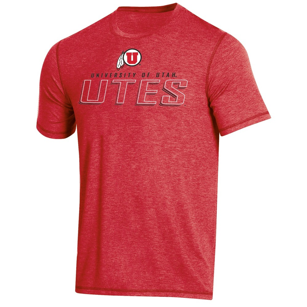 NCAA Men's Short Sleeve Poly T-Shirt Utah Utes - M, Multicolored