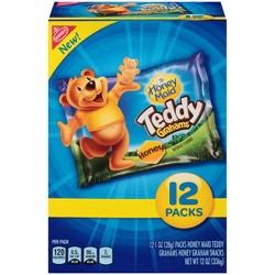 Teddy Grahams Honey Graham Snacks - Variety Pack - 12ct/1oz