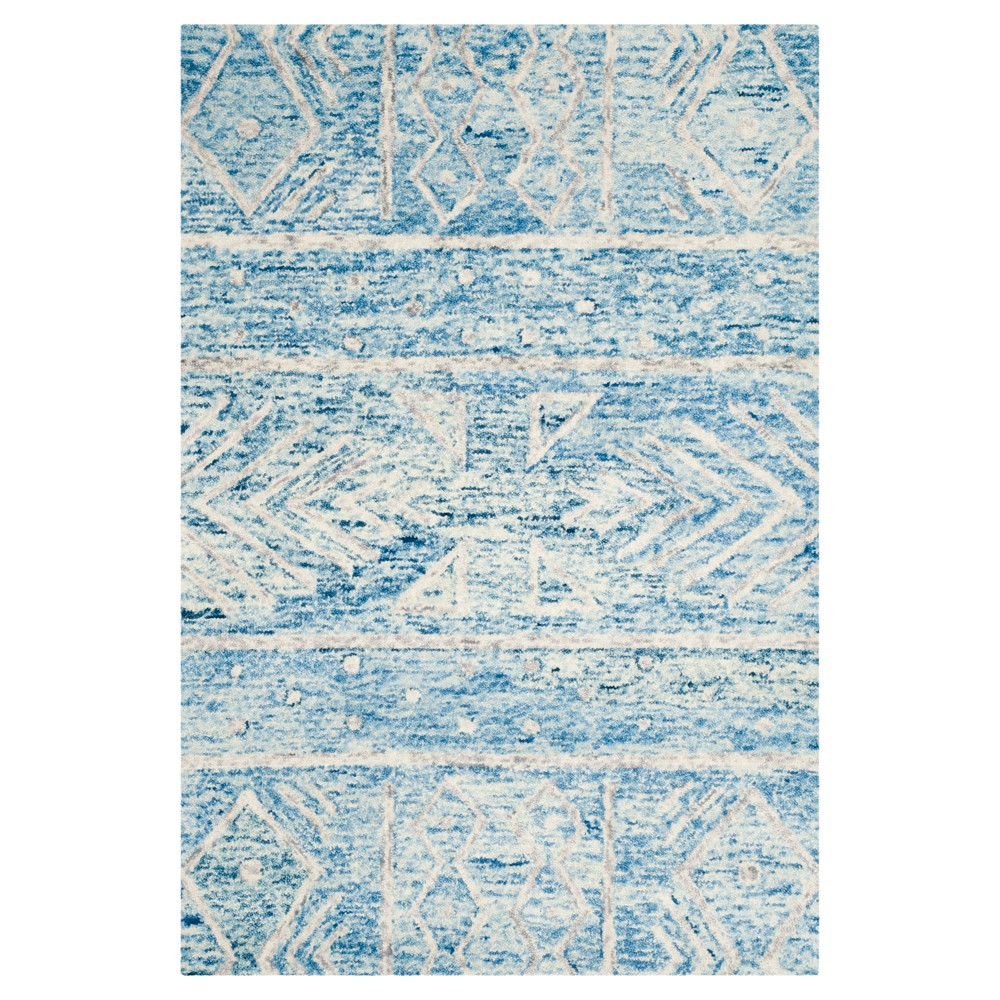 Blue/Ivory Geometric Tufted Area Rug - (4'X6') - Safavieh