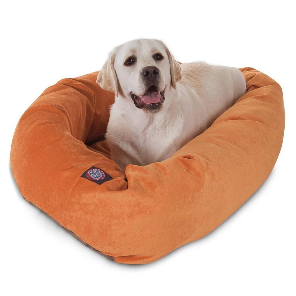 Majestic Pet Basketball Bagel Dog Bed Orange