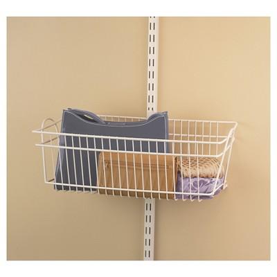 Genial ClosetMaid ShelfTrack Large Basket   White : Target