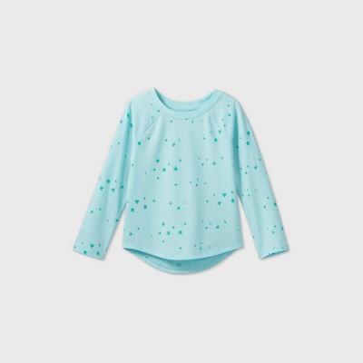 Toddler Girls' Star Long Sleeve T-Shirt - Cat & Jack™ Aqua 3T