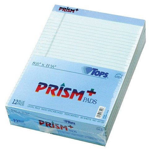 TOPS® Prism Plus Colored Pads, Legal Size, Letter - Blue (50 Sheets Per Pad) - image 1 of 1