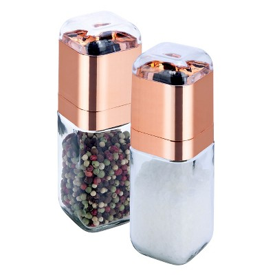 Honey-Can-Do Spice Mill Set 2pc Rose Gold