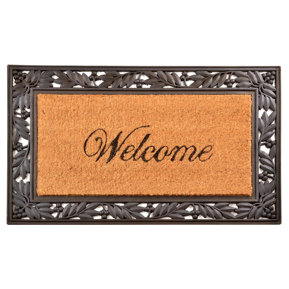 HomeTrax Cocoa Mat Doormat - Cocoa with Welcome (18