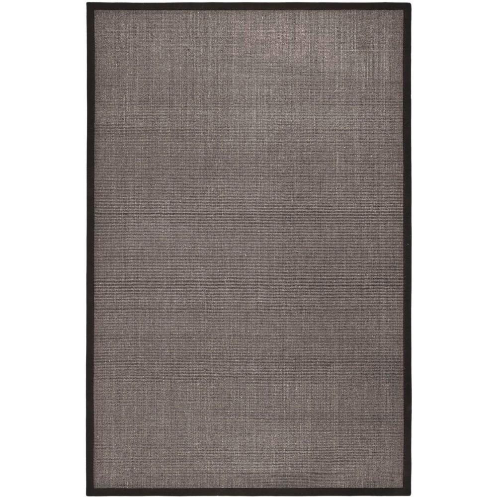 6'X9' Solid Loomed Area Rug Charcoal (Grey) - Safavieh
