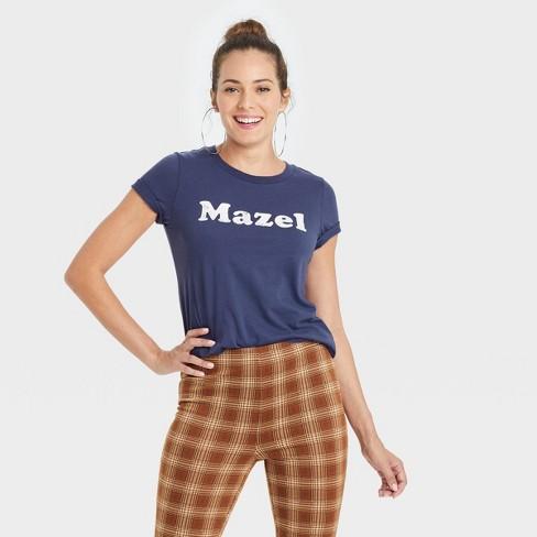 Women's Mazel Short Sleeve Graphic T-Shirt - Navy - image 1 of 3