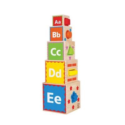 HAPE Pyramid of Play Toddler Wooden Nesting Blocks